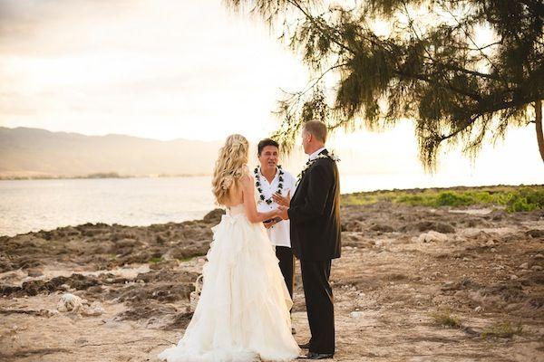 Private Beach Elopement Hawaii Modern Weddings Bridal Inspiration