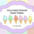 Desk Plates basic and essential.  How much fun to have desk plates that remind us of summer ice-cream all year round. These desk plates come in six...