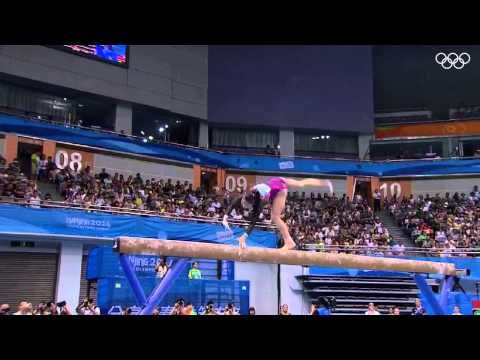 Wang Yan definitely set out to impress, starting with that gorgeous front half! (Wang Yan BB 2014 YOG EF) IMPRESSIVELY SOLID ROUTINE