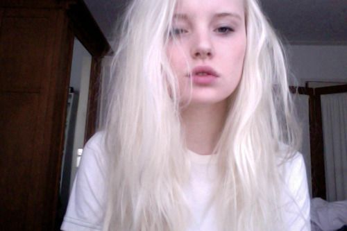 Consider, Pale white blonde girl