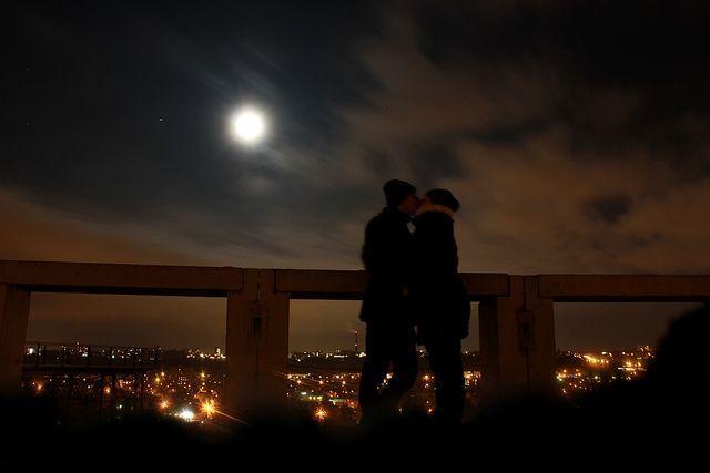 Contemplando la Luna...