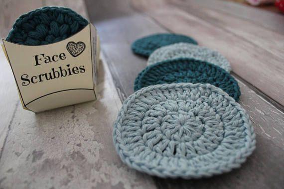 Crochet Face Scrubby Digital Pattern And Packaging Crochet Pattern