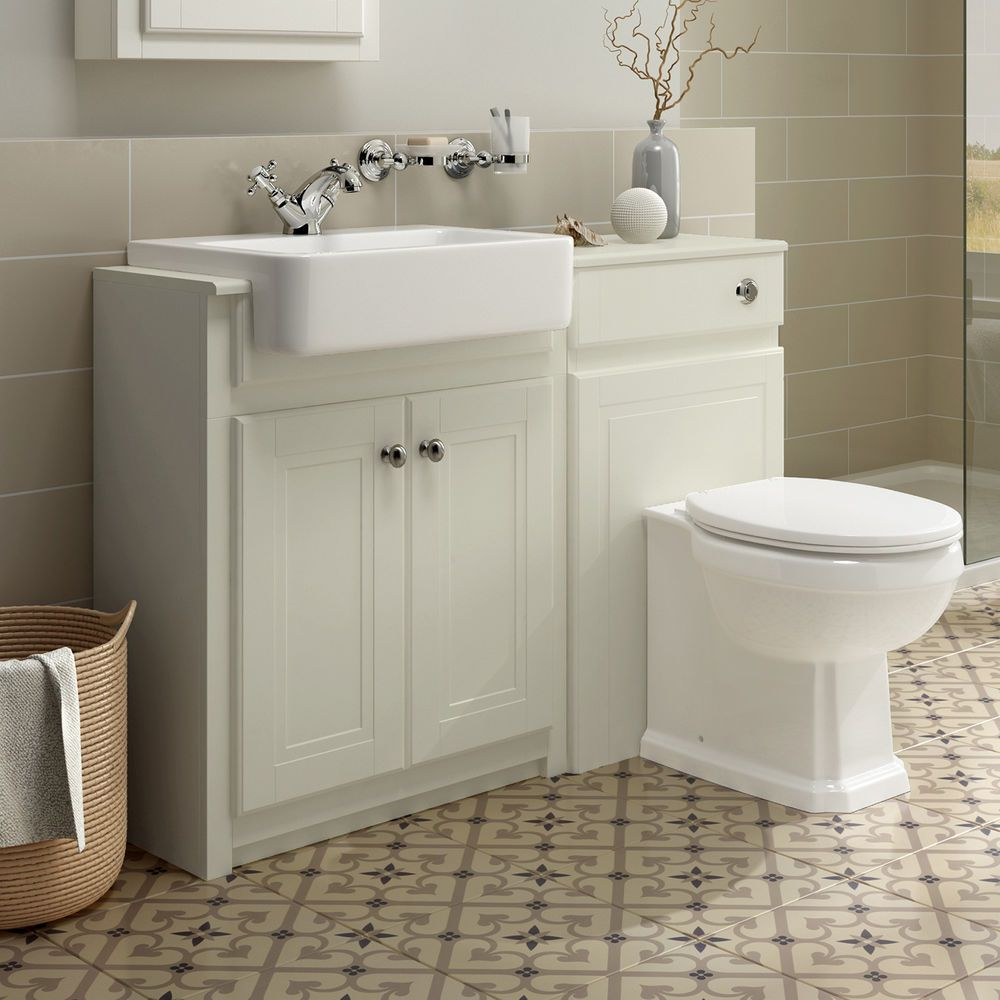 Traditional Combined Bathroom Furniture Sink Basin Vanity Unit & BTW ...