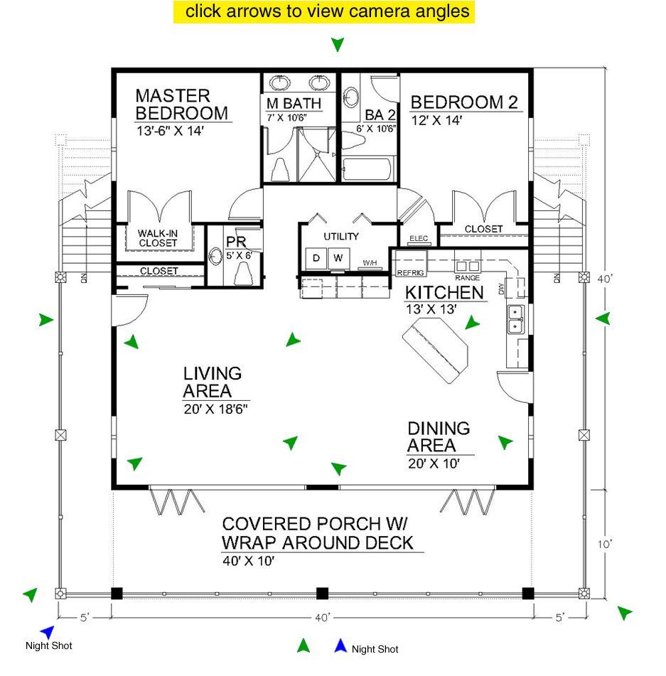 2 Br Floorplan Open Floor House Plans Bedroom Floor Plans Small House Design