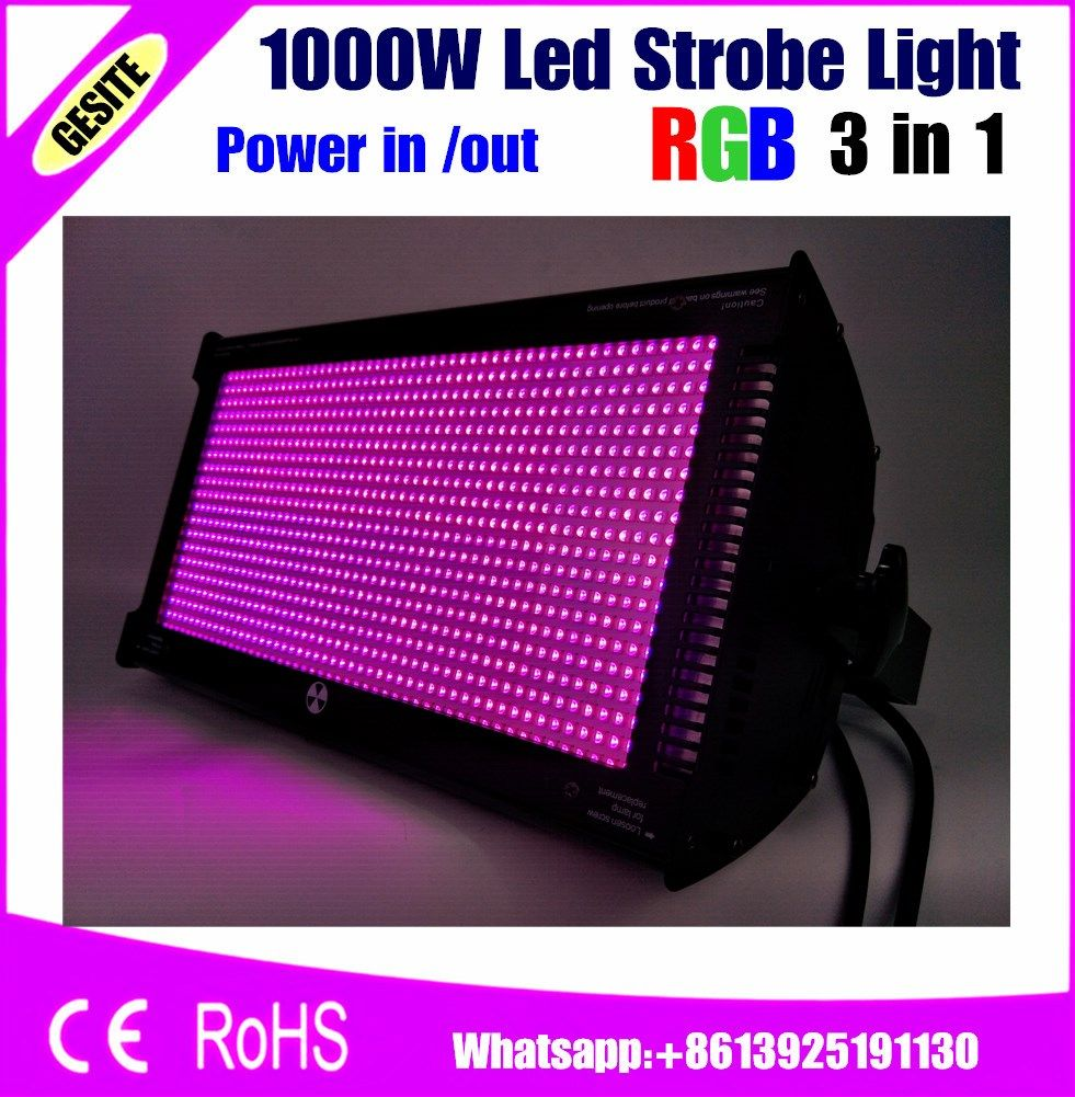 Free Shipping 1000w Led Strobe Light Professional Led Stage Lighting Brighter Than Old Atomic 3000 Dmx512 Strobe Lights Led Strobe Stage Lighting