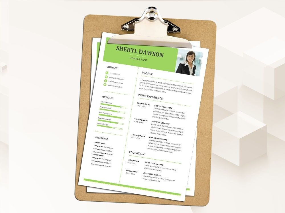 Free microsoft word resume template for consultant