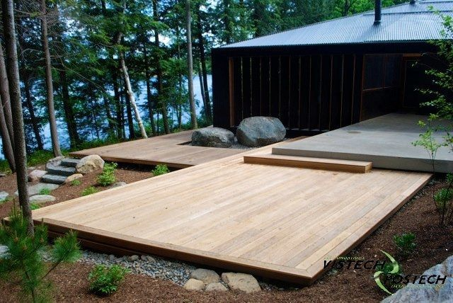 Really into low decks with no railings these days Ideas casas
