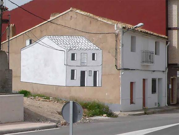 street art: Escif, 'presentation-representation', spain