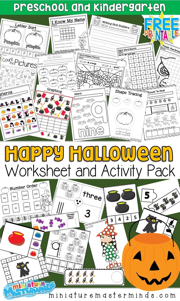 Free Printable 100 Page Preschool And Kindergarten Halloween Worksheet And Activity Pack Halloween Worksheets Halloween Kindergarten Halloween Worksheets Preschool [ 1280 x 768 Pixel ]