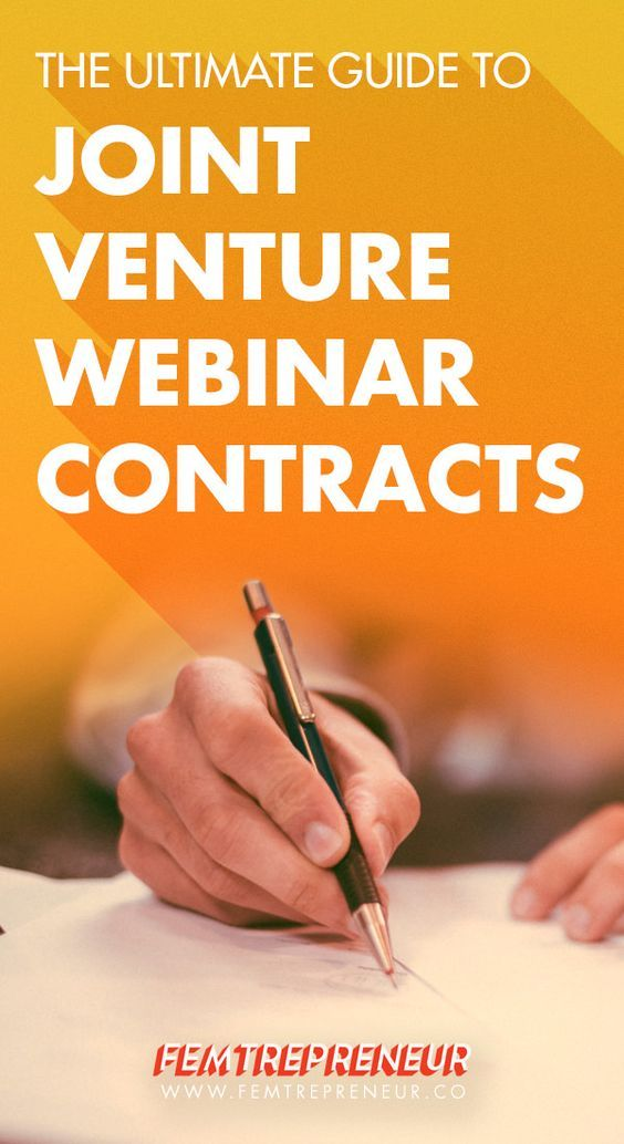The Ultimate Guide to Joint Venture Webinar Contracts Joint venture