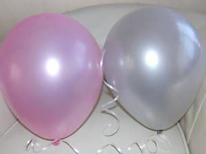 pink and silver balloons:)