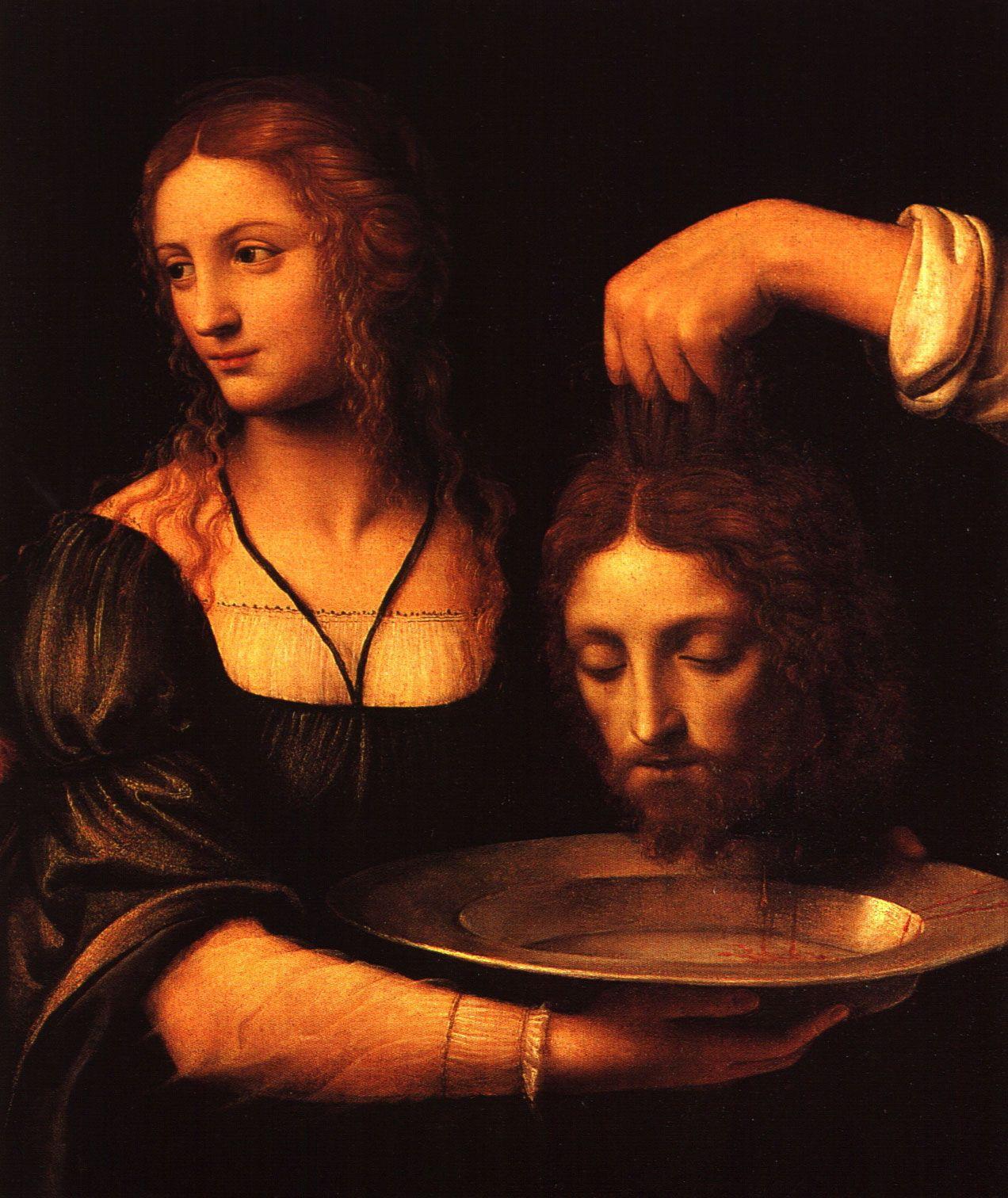 Соломея, держащая голову Иоанна Крестителя. Бернардо Луини