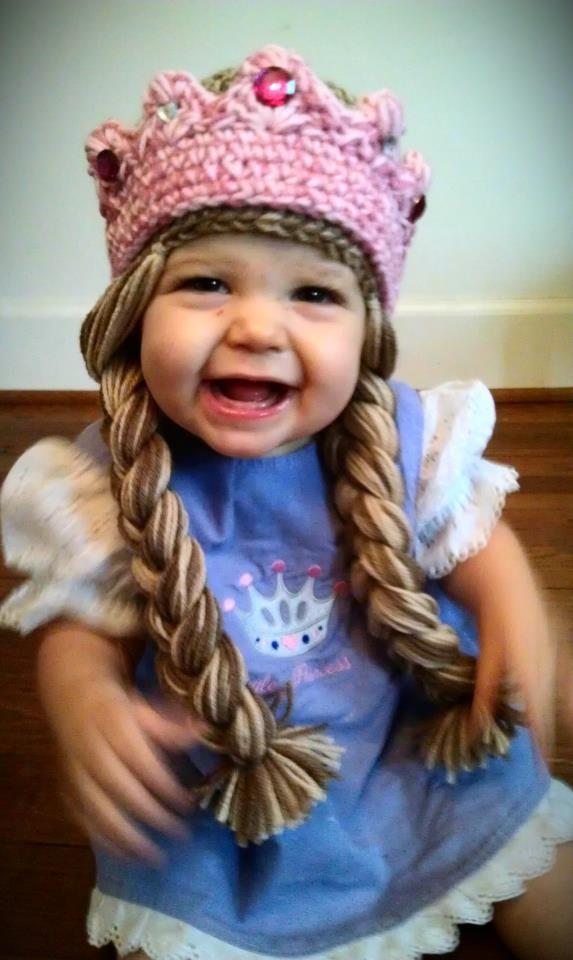 Crochet Princess Hat - this is cracking me up!  c87e5e76f0e