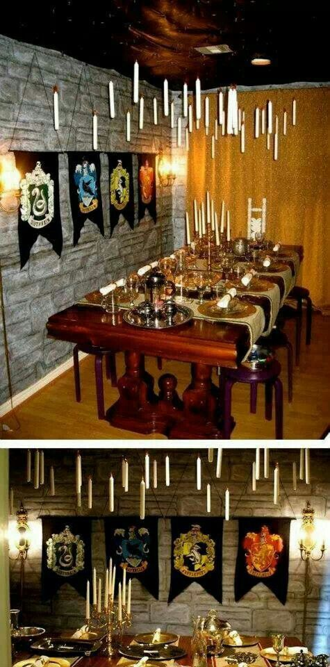 harrry potter dinner party yes please crafty crafty. Black Bedroom Furniture Sets. Home Design Ideas