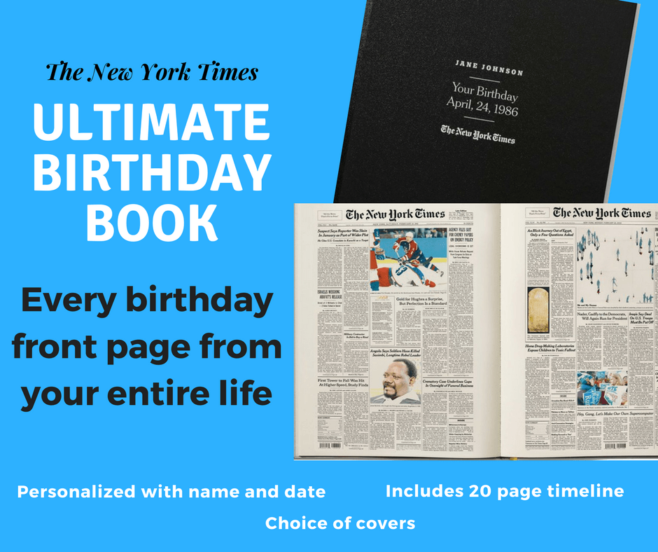 Looking For A Unique 80th Birthday Gift Your Dad Impress Father With The New York Times Ultimate Book Personalized Includes Every