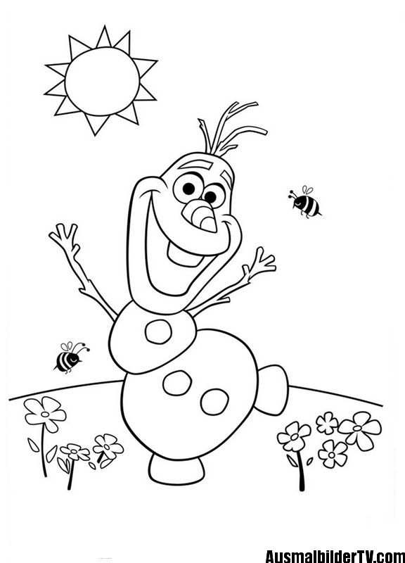 Frozen Coloring Page Gingerbread Man Olaf Ausmalbilder