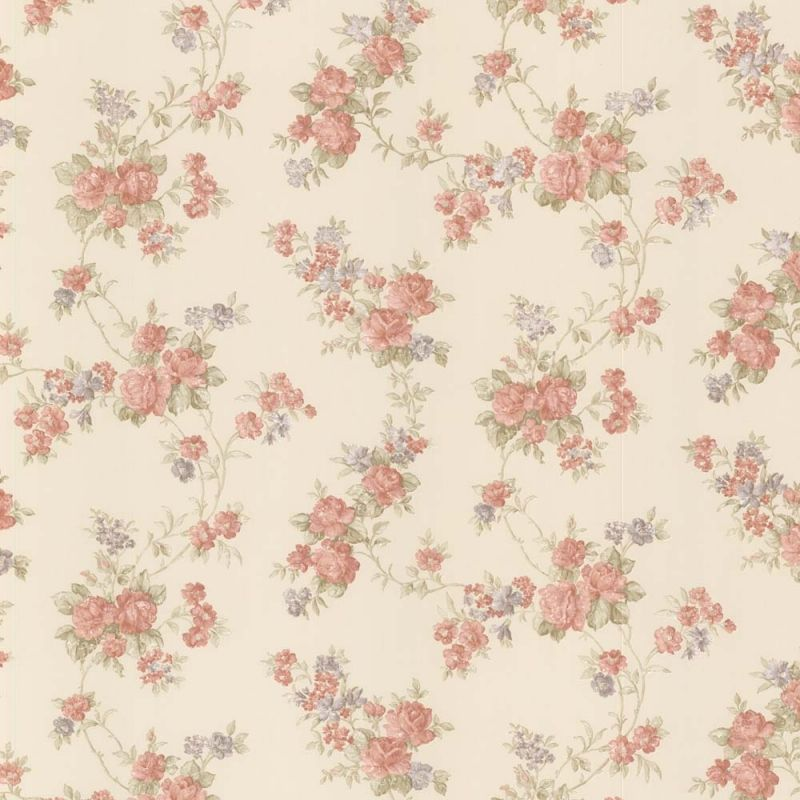 vintage rose englische landhaus satintapeten rankende rosen art nr 68324. Black Bedroom Furniture Sets. Home Design Ideas