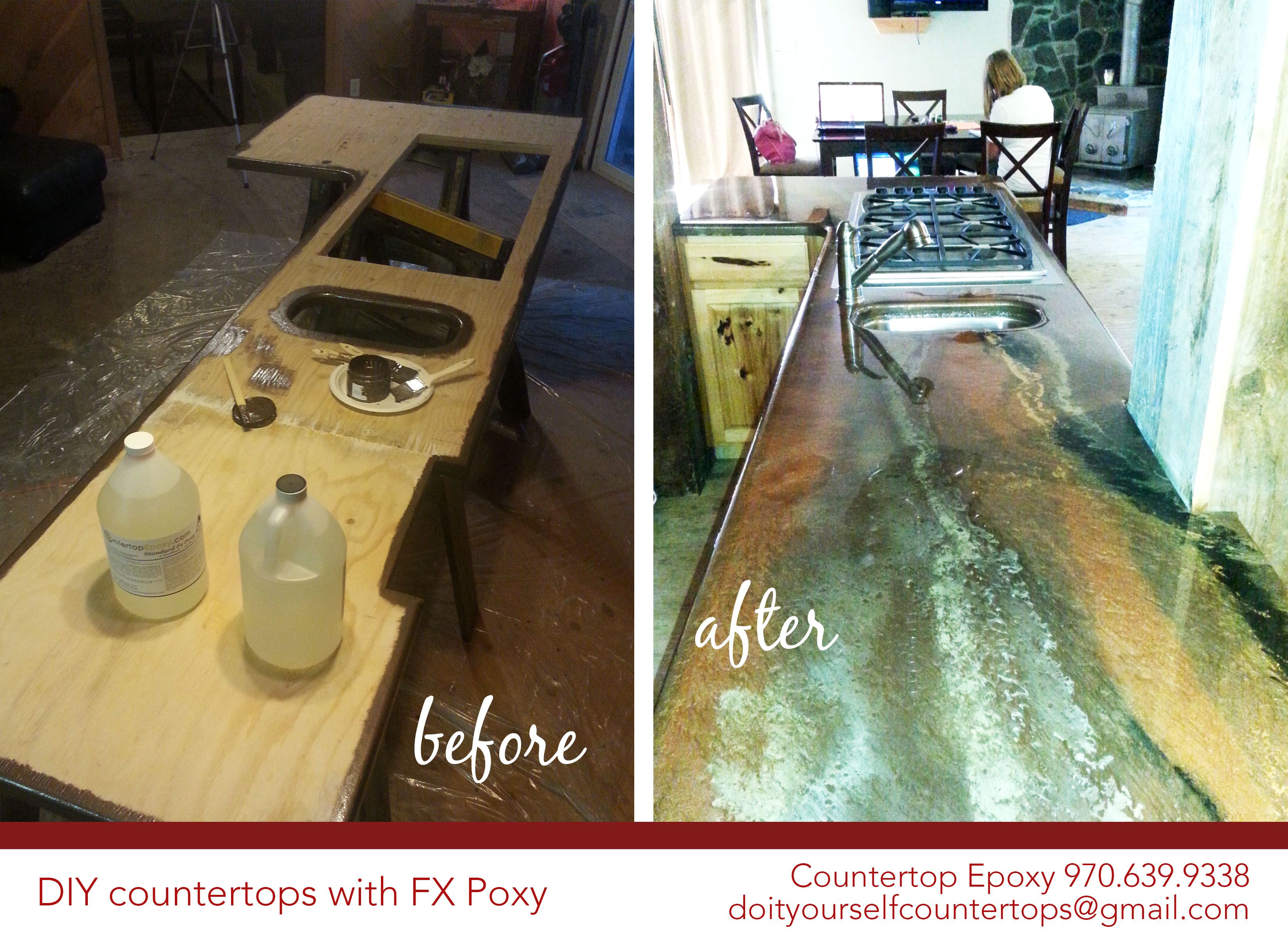 Diy Countertops With Fx Poxy Create A Beautiful Countertop That