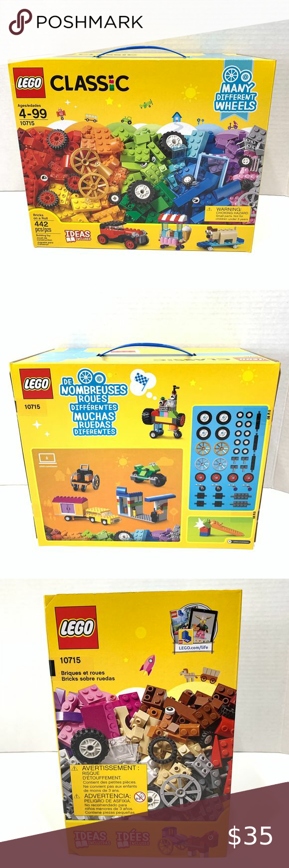 Great Gift Idea New LEGO Classic Bricks on a Roll 10715 442 Pieces