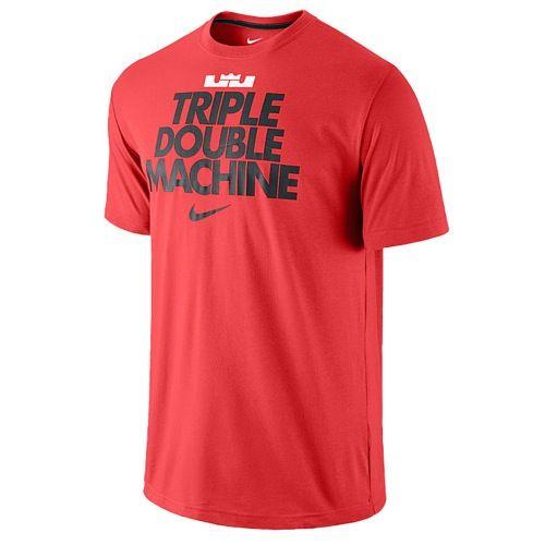 Red black · Nike LeBron Triple Double Machine T-Shirt - Men's