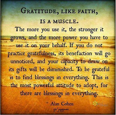 Gratitude Is A Muscle Alan Cohen Gratitude Quotes