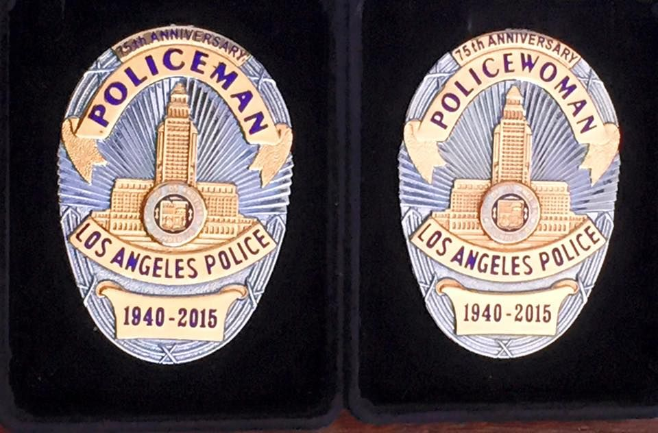 Policeman And Policewoman Commemerative Set Sun Badge Co For Sale From Sun Badge Co Only To Current Reserve And Retired Lapd Lapd Badge Badge Movie Props