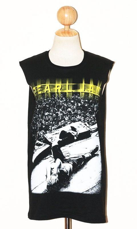 dd508c1f712af Pearl Jam Black Women Top Clothing Sleeveless by pleiadeshop