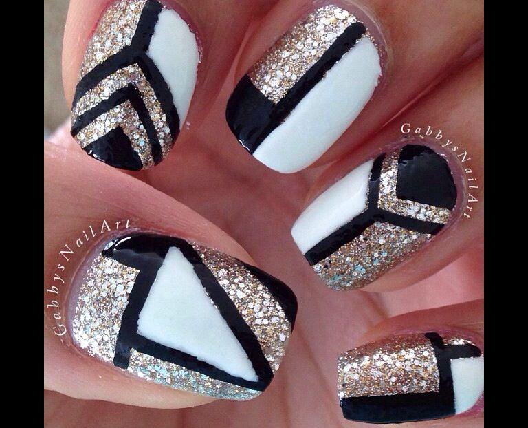 Glittery Design Nail Art In 2018 Pinterest Nails Nail Art And