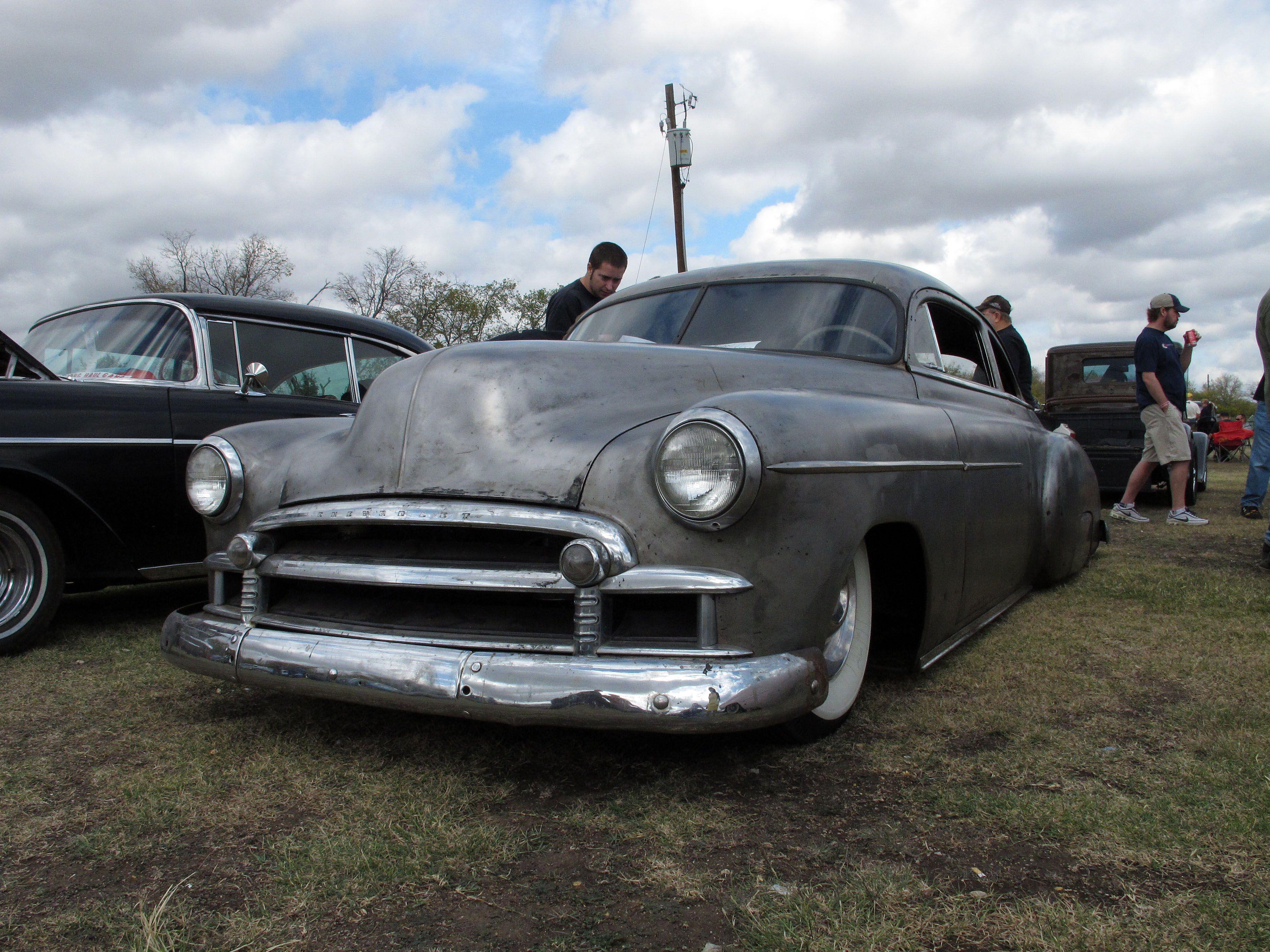 Classic Car: love the bare metal on this Chevy, Pistons & Paint ...