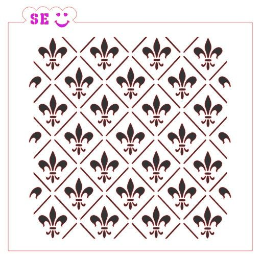 Fleur De Lis #2 Background Stencil $5.25
