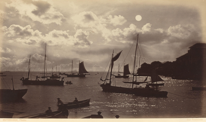 Eadweard Muybridge 'moonlight Effect-bay Of Panama ' 1877