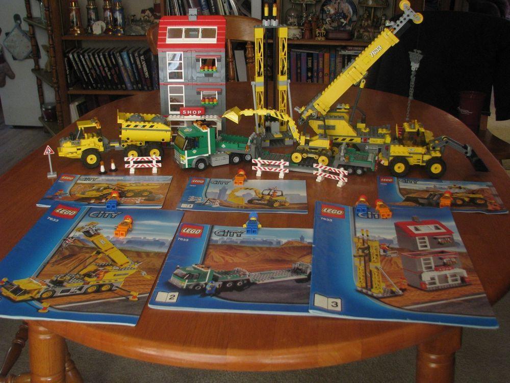 lego city construction site 7633 instructions