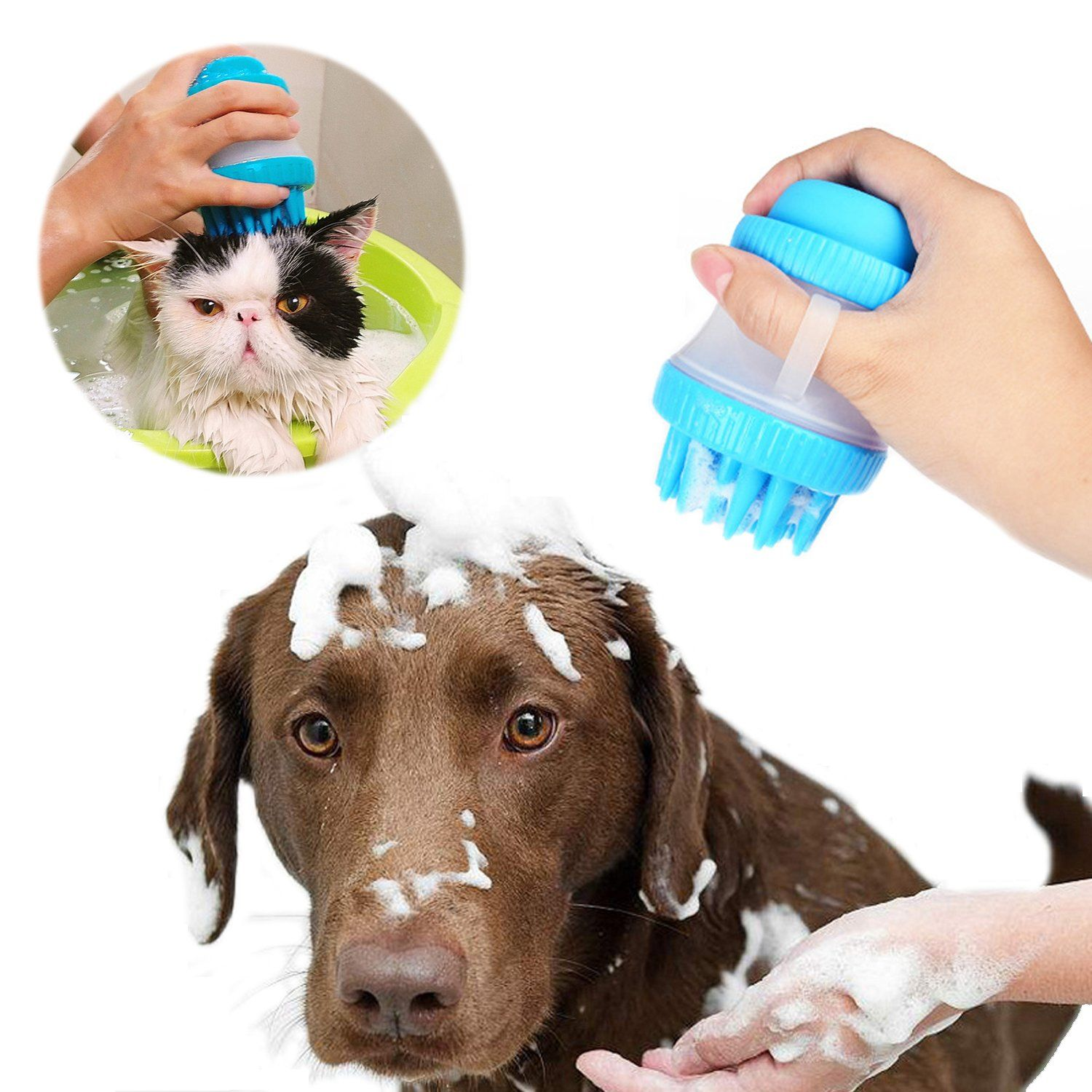 Gelis Silicone Pet Bath Tool With Shampoo Dispensing