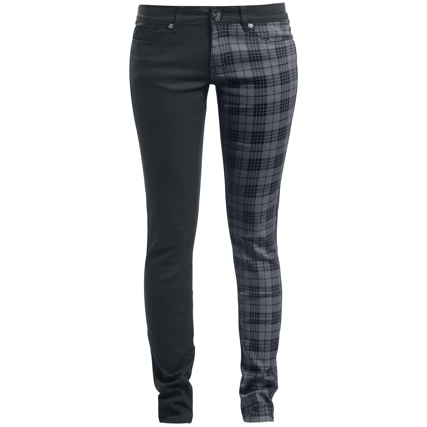 Tartan skarlett slim fit rock rebel by emp tartan clothes and