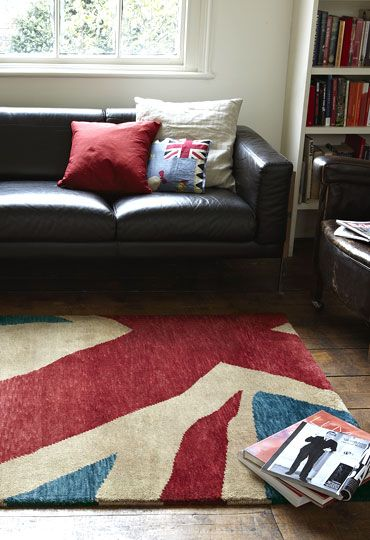Wovenground Modern Rugs Union Jack Abstract