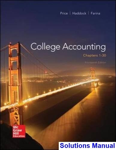 College accounting 14th edition price solutions manual test bank college accounting 14th edition price solutions manual test bank solutions manual exam bank fandeluxe Images