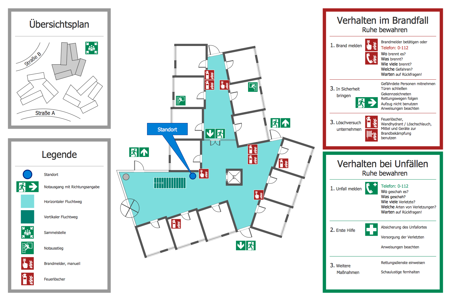 emergency rescue plan diagram created in the conceptdraw pro vector drawing tool with the help of ready made icons from the fire and emergency plans  [ 1500 x 1001 Pixel ]