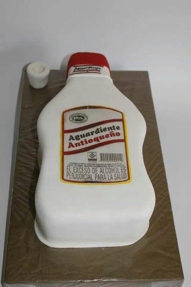 Torta Aguardiente 100% Comestible.