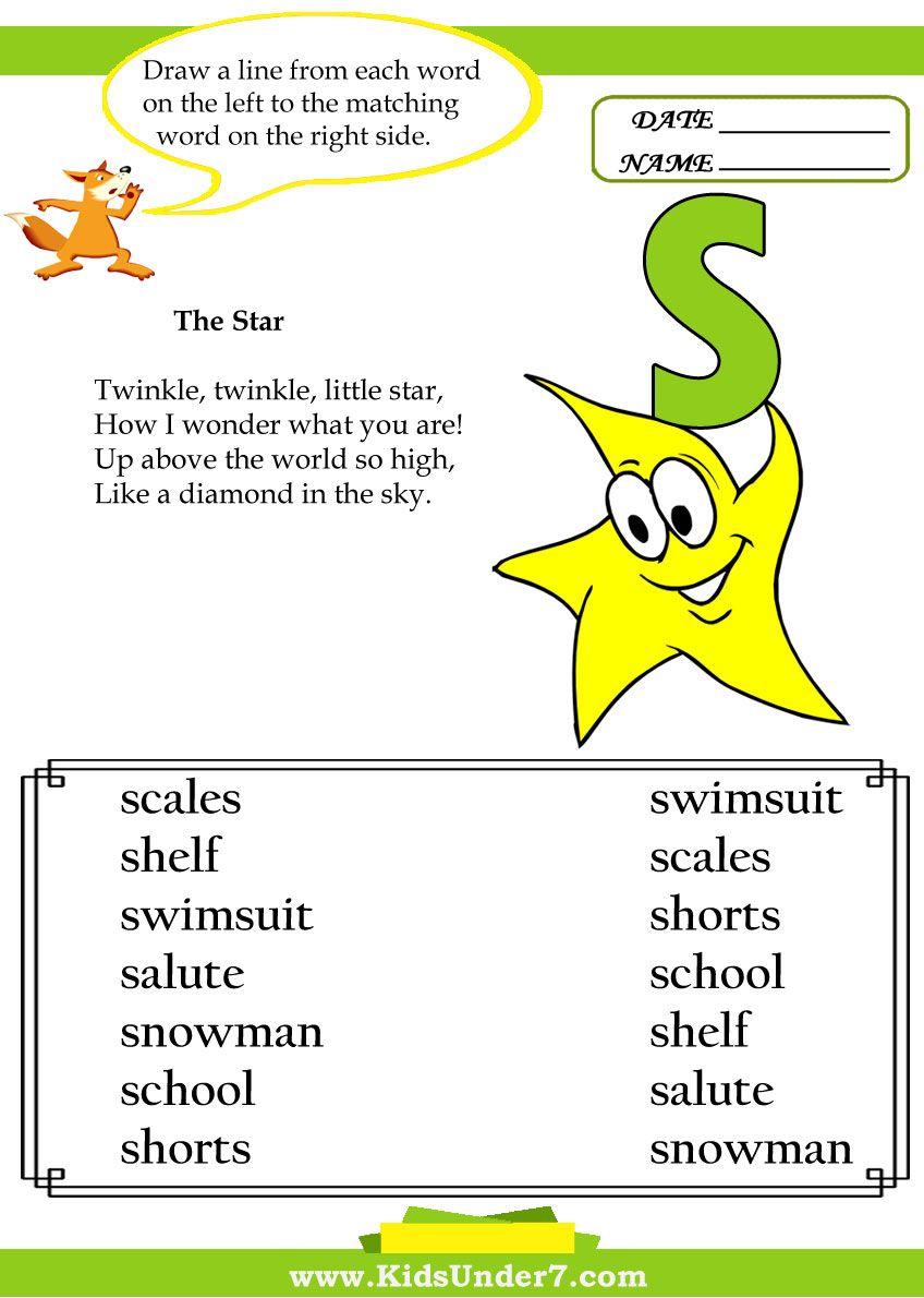 Kids Under 7 Letter S Worksheets Letter S Worksheets Letter S Lettering