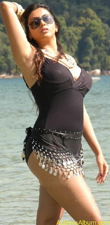 Fake tits micro bikini