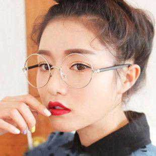 Men Women Round Sunglasses Retro Metal Frame Eyeglasses Korean