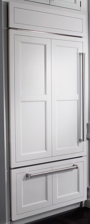 I Would LOVE A Sub Zero Cabinet Enclosed Refrigerator  But In Dark Wood  Cabinet Stain! :)