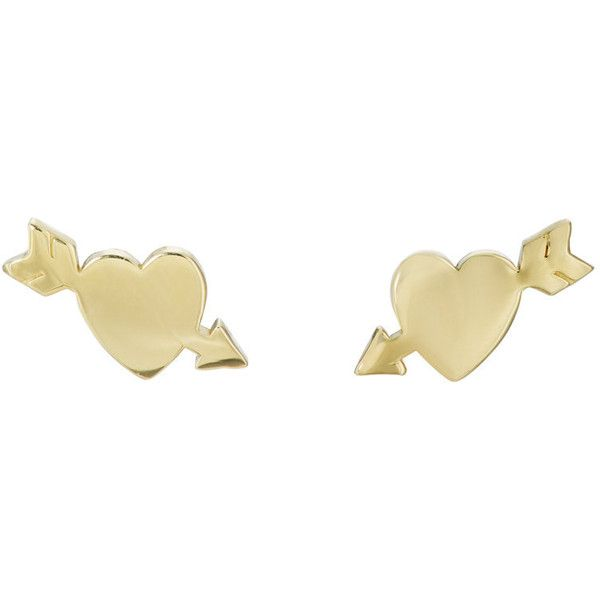 Jennifer Meyer 18k Gold Heart Stud Earrings Bcv8Dk3