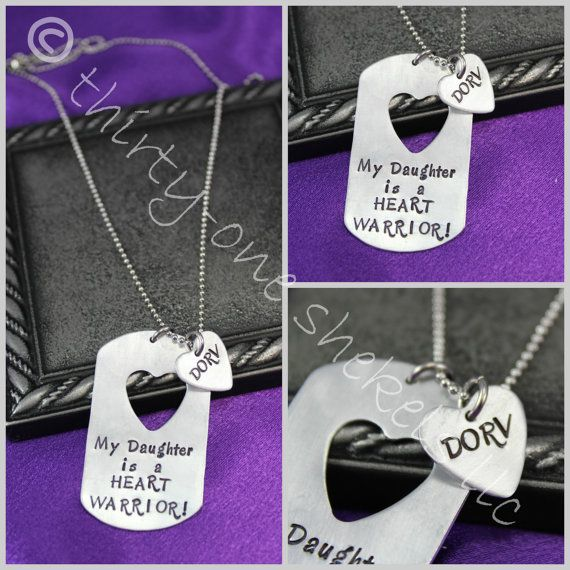 Here S The Necklace I Just Ordered My Husband To Remember Our Daughters Heart Day Warrior Dog Tag Chd Awareness Jewelry By Thirtyoneshekels