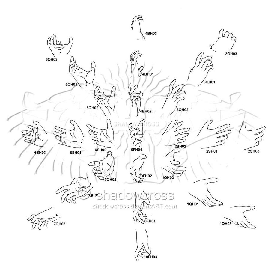 How To Draw Anime Hands Holding Something By David Almond Hand Study Angle  Chart 8 By