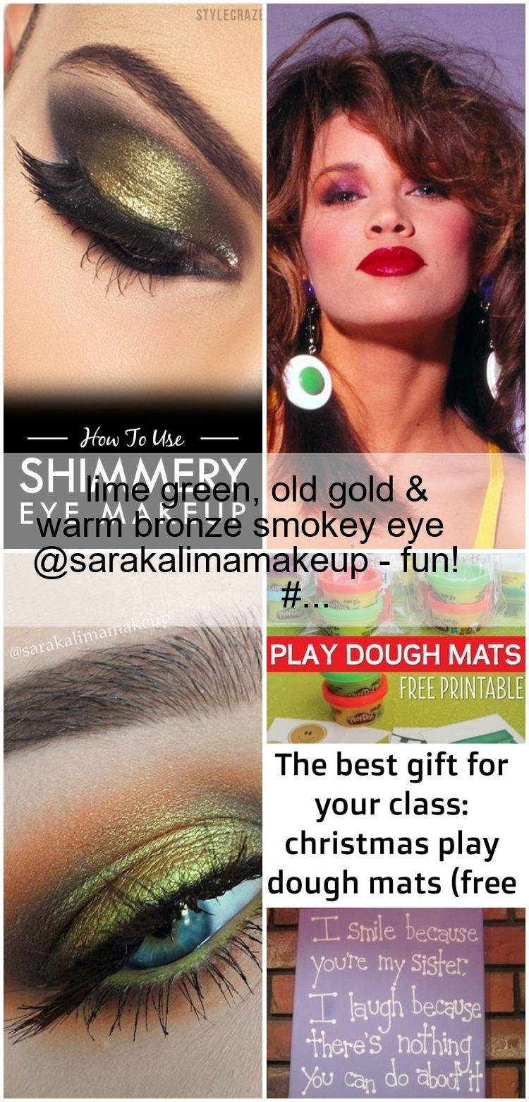 Photo of lime green, old gold & warm bronze smokey eye #makeup @sarakalimamakeup – fun! #…