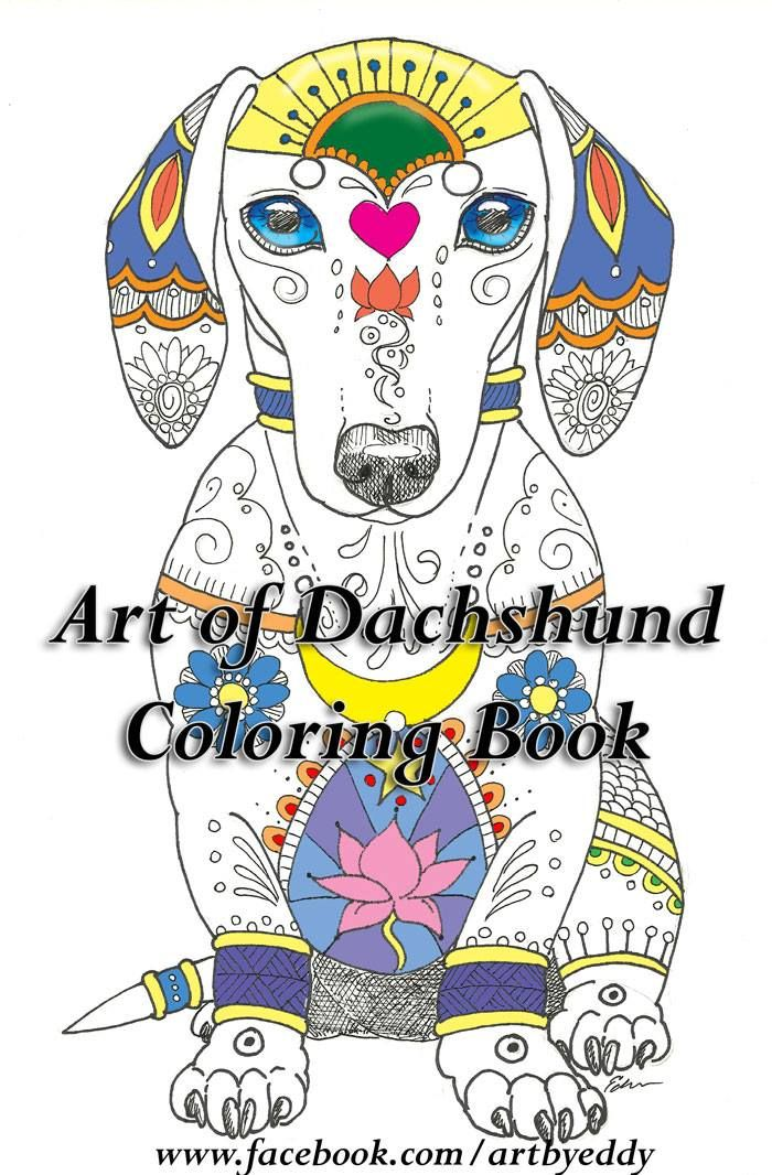 Art Of Dachshund Color Book Now Available For Download Or Printed Booklet 15 Artistic Dachshunds