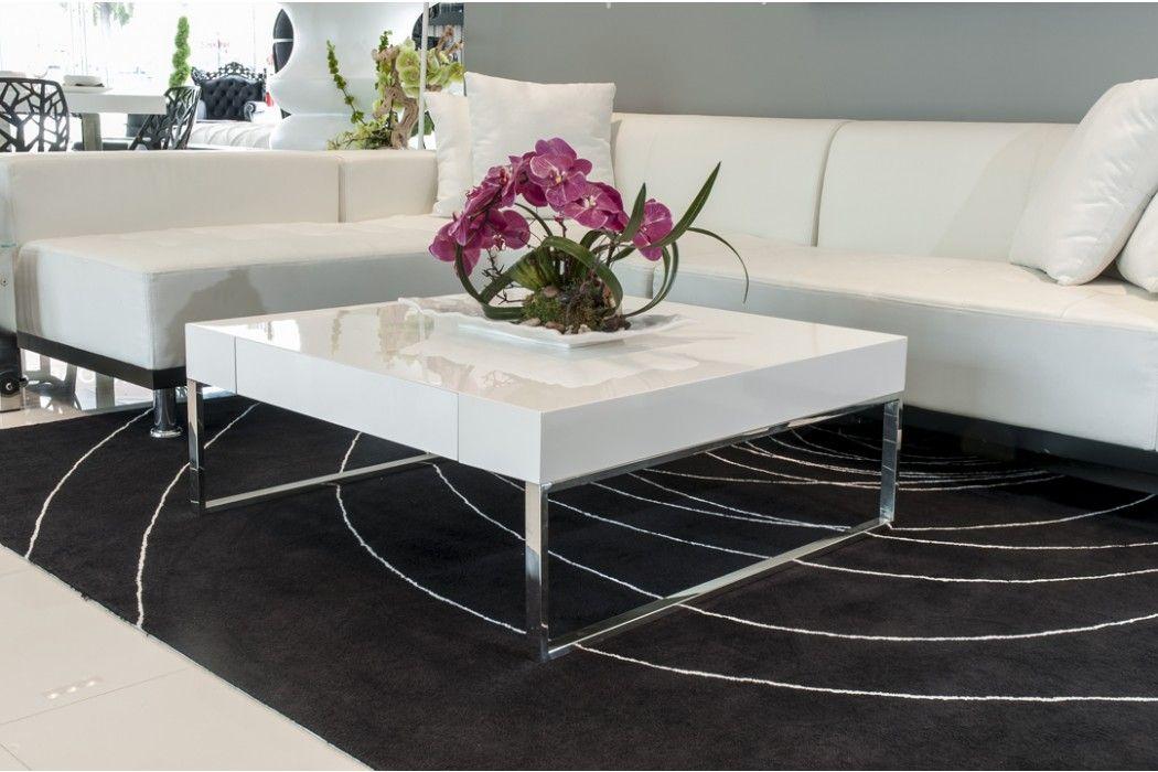 Best Gavino Coffee Table White Modern Contemporary White 400 x 300