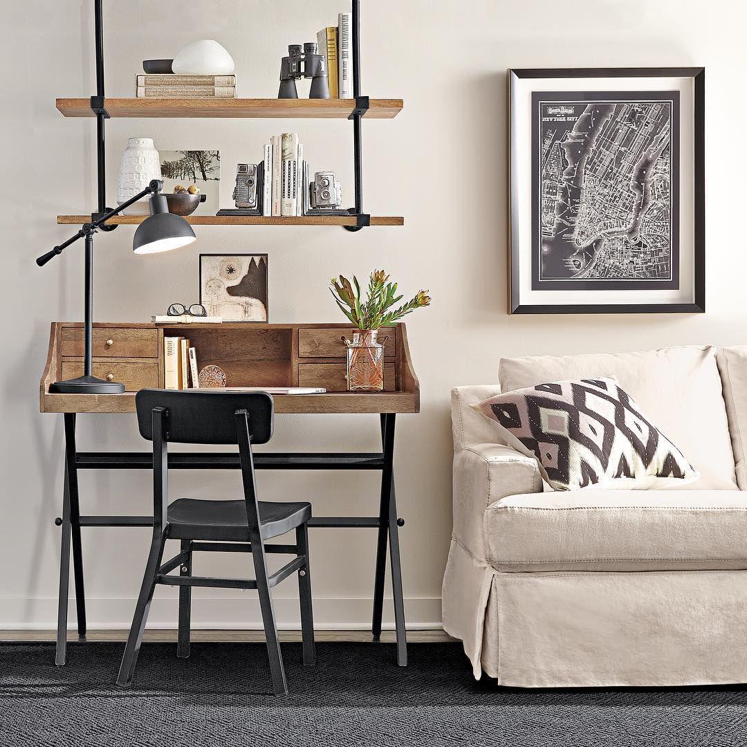 bureau deco industriel. Black Bedroom Furniture Sets. Home Design Ideas