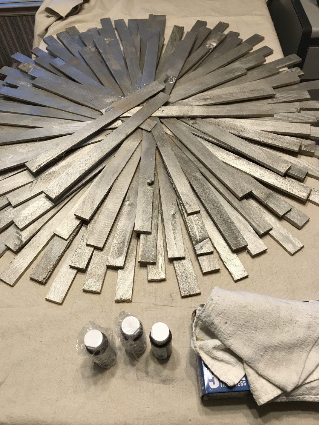 DIY Sunburst Mirror | Wood shim project | DIY Wall Art | Home Decor ...